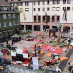 Das Lesewohnzimmer in Freiburg von oben...