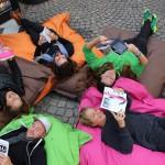Das StadtLesen-Team in Bozen vlnr. Angerer Theresa, Gratkowski Daniel, Steinfelder Richard, Grabenweger Assia, Blasl Angelika
