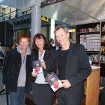 Autorin Eva Rossmann mit Michaela Bokon, Thalia und Sebastian Mettler, Innovationswerkstatt