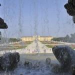 Blick auf Schönbrunn durch Wasserfall des Neptunbrunnen © Schraub-Walzer/ PID